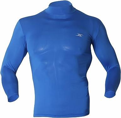 Camiseta térmica de compresión de cuello alto y manga larga para hombre: Amazon.es: Ropa y accesorios