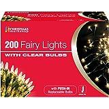 The Benross Christmas Workshop 200 Shadeless Fairy Lights, Clear