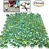 """270 Count of Cats Eyes Glass Marble , Cat's Eyes Marbles 5/8"""" in Bulk , Shooters Sling Shot Ammo , Assorted Colors"""