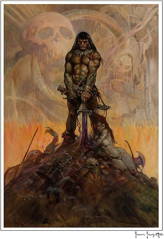 Amazon Com Frazetta Girls Frank Frazetta Conan The Barbarian Print Llc 16 X 20 Print Textured Fine Art Paper Posters Prints