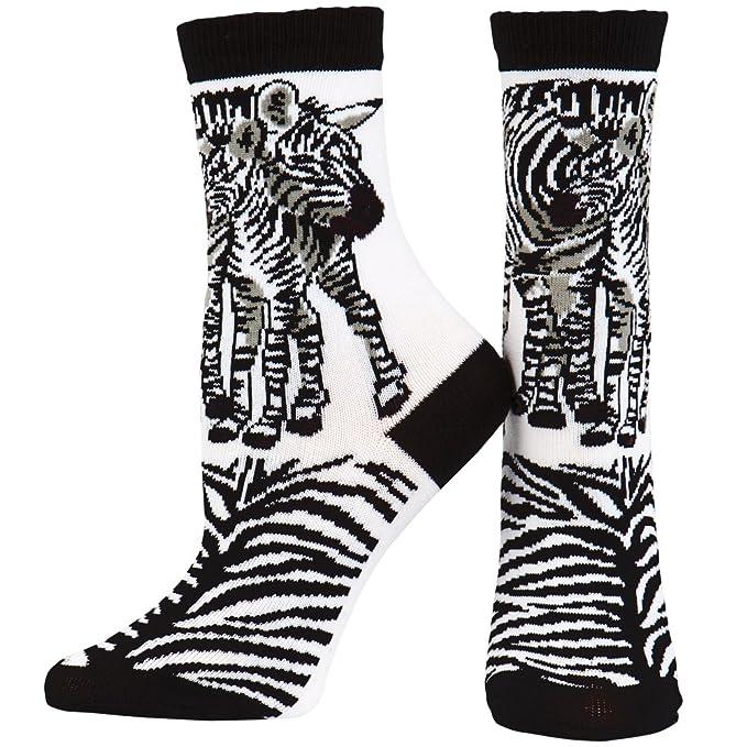 Mundo animal - Calcetines de cebras en Love Juventud Blanco Blanco blanco: Amazon.es: Ropa y accesorios