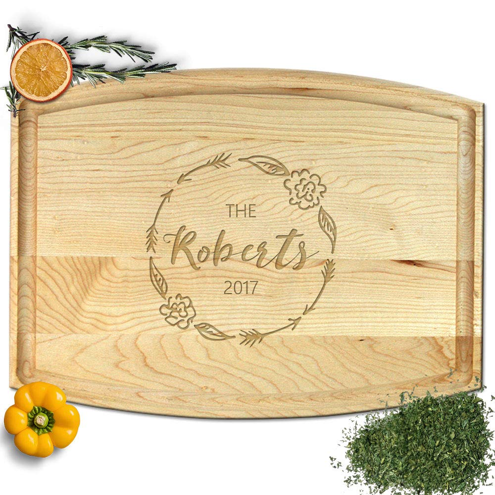 Froolu Floral Arrow wood cutting boards for New Home Owners Housewarming Gifts