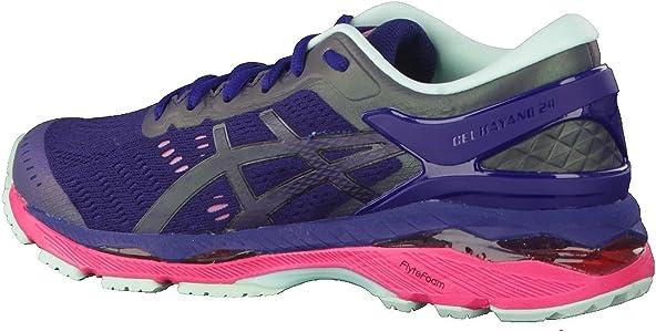ASICS Mujer de Gel Kayano 24 Lite de Show – Zapatillas de Gimnasia, Mujer, Blau/Pink/Mint, 44: Amazon.es: Deportes y aire libre