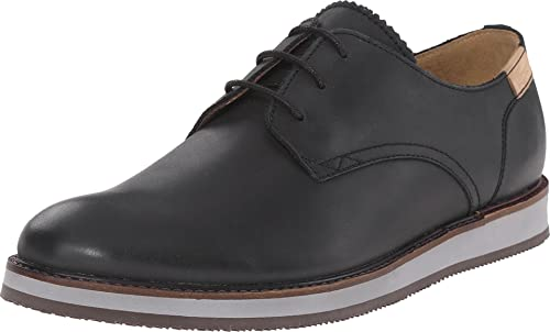 e01f5b845 Lacoste Millard Mens Black Leather Casual Dress Lace Up Casual Dress Shoes 8