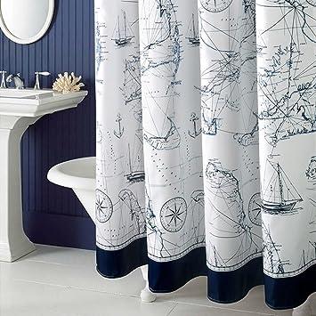 MoMo Wasserdichte gepolsterte Mehltaupartition-Vorhänge/Badezimmer ...