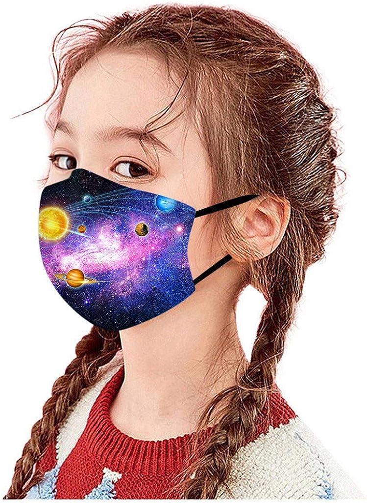 VRTYOC Mundschutz Kinder Waschbar Baumwolle Atmungsaktive Wiederverwendbar Staubdicht Multifunktional Halstuch Schlauchtuch Schlauchschal