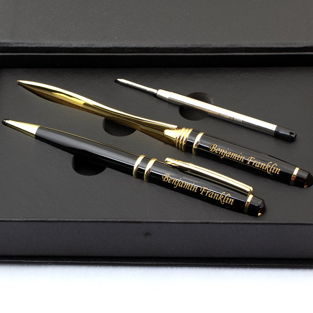 Free Engraving - Brass, Roller Ballpen, Refillable Pen, Ballpoint pen, Ball pen, Gold Blade Knife , Letter Opener Free Customization