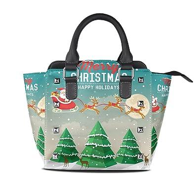 dcd6457ecb8a Amazon.com: LORVIES Women Christmas Tree And Santa Claus Rides In ...