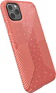Speck Products Presidio Grip + Glitter iPhone 11 PRO Max Case, Lilypink Glitter/Papaya Pink (130036-8533)