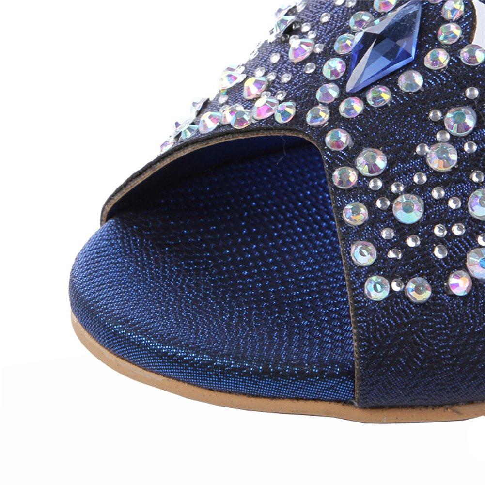 2cc806e48bad4 ... Honeystore Women s Rhombus Rhinestones B00LC23QGK Handmade Party Wedge  Sandals B00LC23QGK Rhinestones 8 B(M)