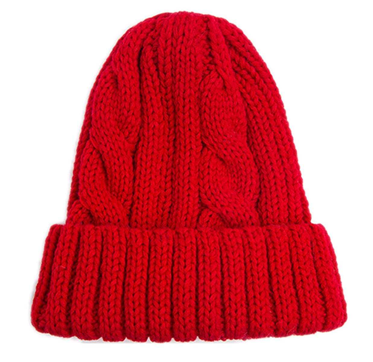 3610b665281 Spikerking Womens New Winter Hats Knitted Twist Cap Thick Beanie Hat ...