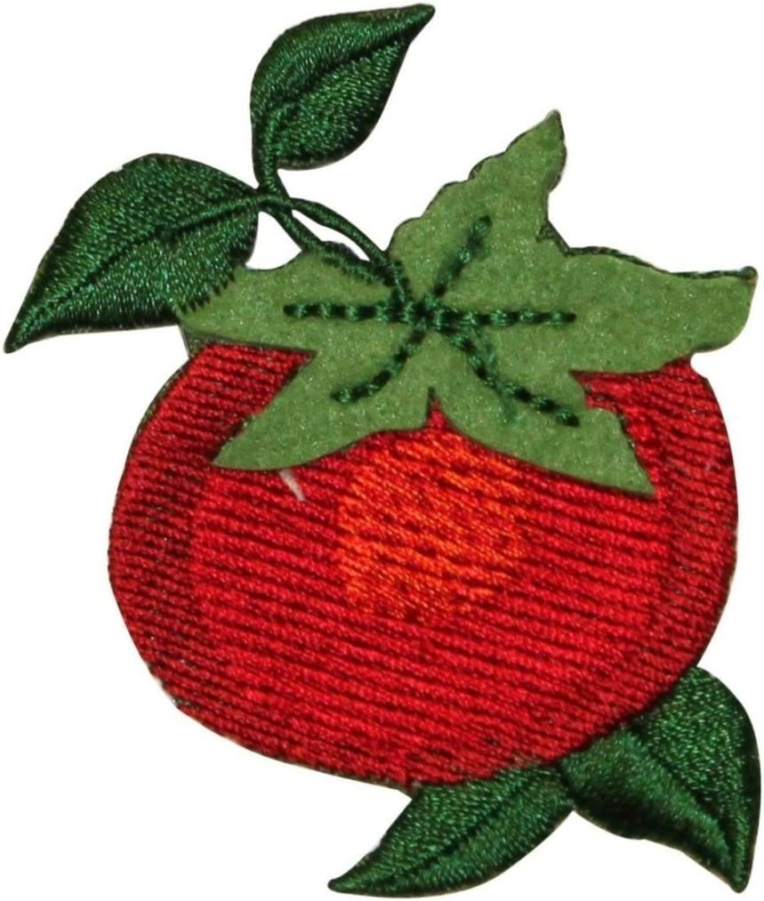 ID 1244 Tomato On Vine Patch Fresh Vegetables Food Embroidered Iron On Applique
