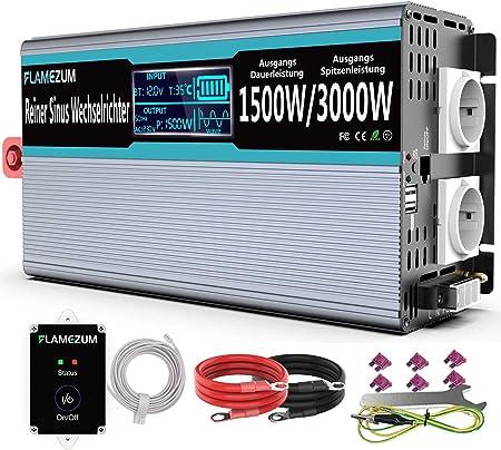 1500w Wechselrichter Reiner Sinus 12v Auf 230v Elektronik