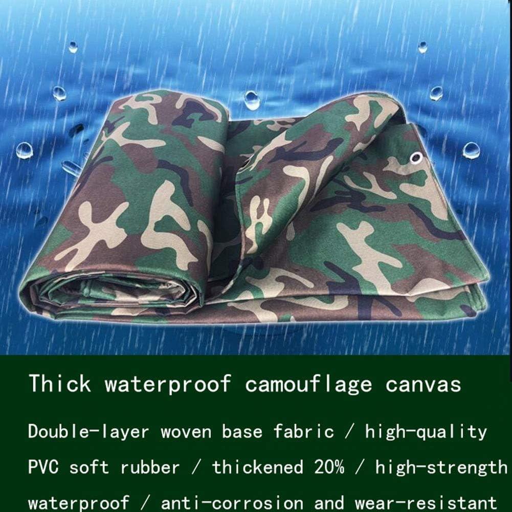 ZBMMBZ B/âche /Étanche Heavy Duty Fiche Tarp Camouflage Universal Premium Qualit/é PE B/âche Ext/érieur Housse Camping B/âche Feuille Epaisseur: 0,41 Mm Toile b/âche