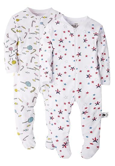 17f43b32dab6 Amazon.com  Baby Boys Girls Footed Pajama - Zip Front 100% Cotton ...