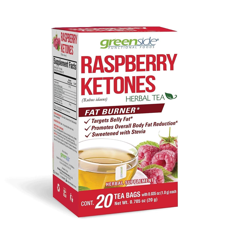 Amazon Com Greenside Raspberry Ketones Fat Burner Herbal Tea 20 Tea Bags Each Pack Of 2 Grocery Gourmet Food