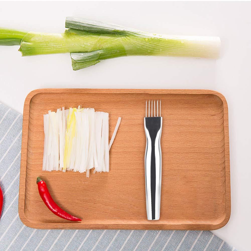 Trancheur /à Oignon En Acier Inoxydable Porte Oignon Pour Trancher Gadgets De Cuisine En Acier Inoxydable L/égume Patate Coupeur Trancheur Outil De Coupe DOignon
