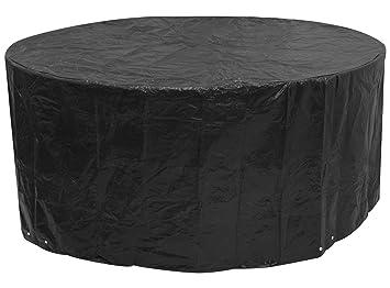 Woodside - Bâche pour meuble de jardin - ronde/étanche - noir - grande  taille