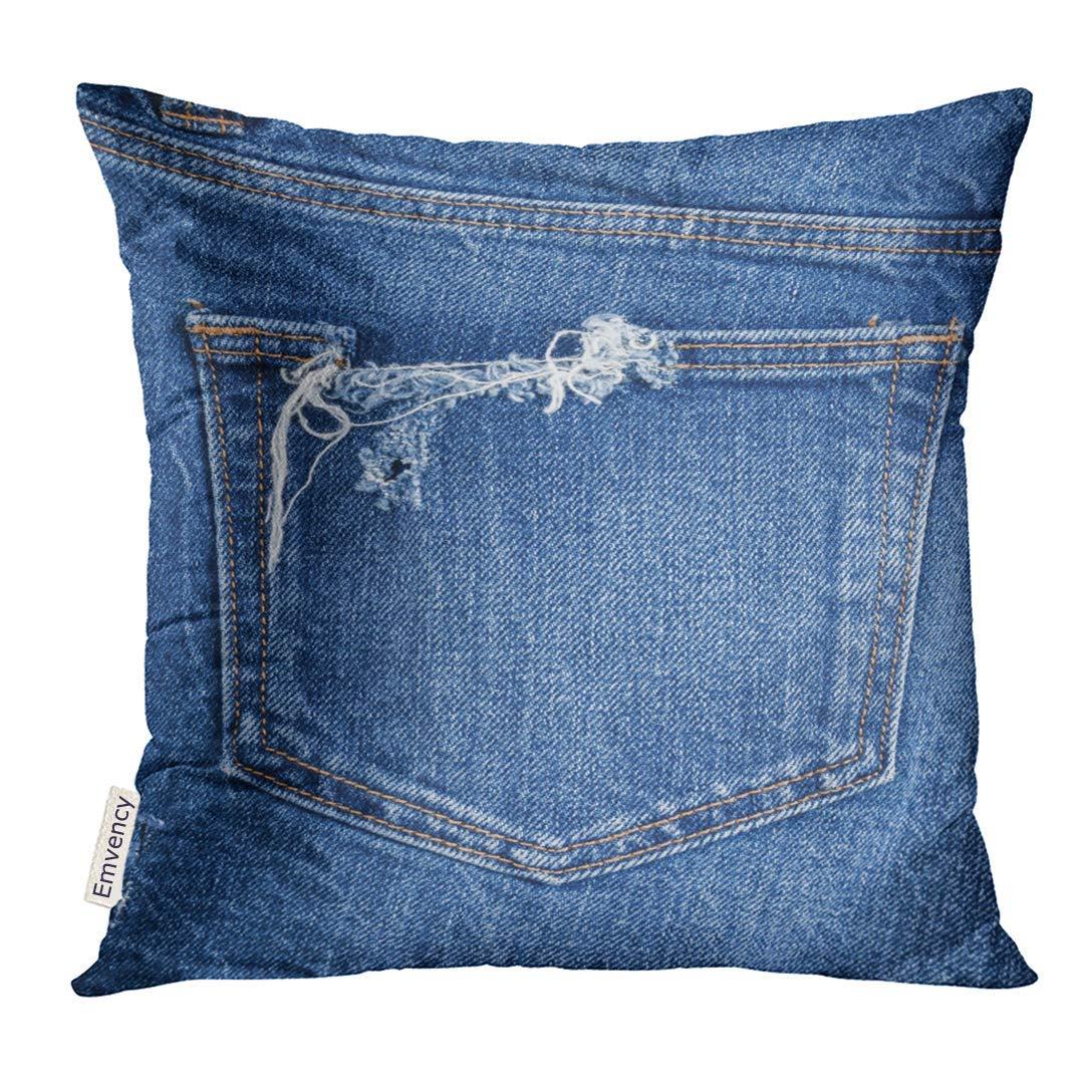 Kinhevao Almohada de Tiro Lona Azul Close Up Pantalones ...