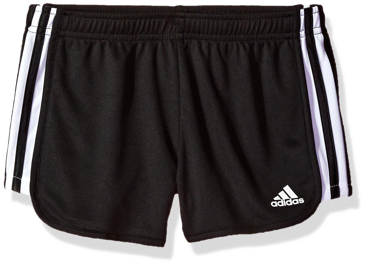 adidas Big Girls' Athletic Shorts, Black, X-Large