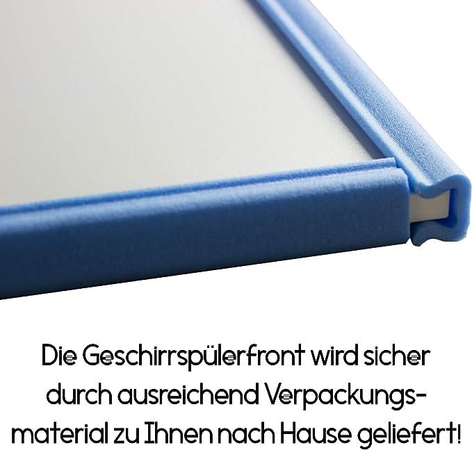 Geschirrsp/ülerfront 19mm voll- teilintegriert und nach Ma/ß Lichtgrau, 444x565mm