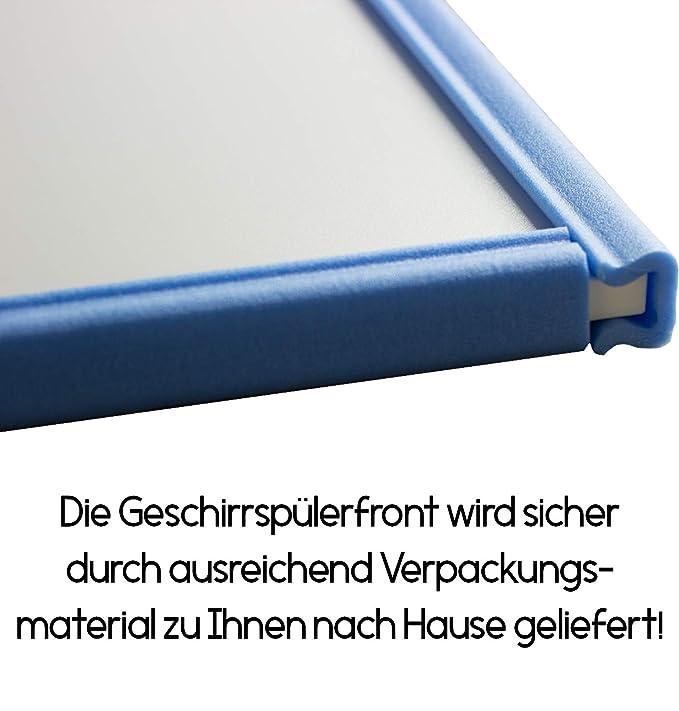 Geschirrsp/ülerfront 19mm voll- teilintegriert und nach Ma/ß Rubinrot, 444x715mm