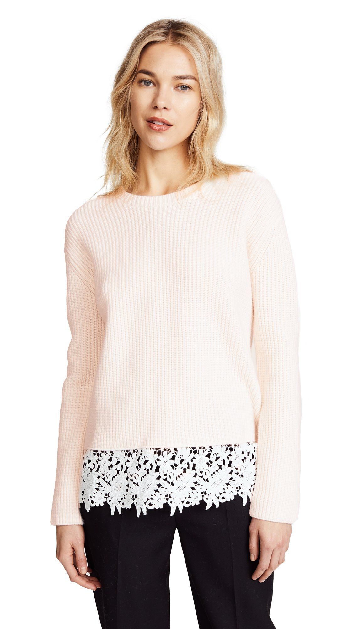 Generation Love Women's Whitney Lace Sweater, Off White, X-Small