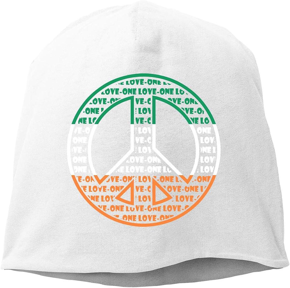 Winter Warm Daily Hat TLPM9LKMBM Irish Flag Peace Sign Beanie Skull Cap for Women and Men