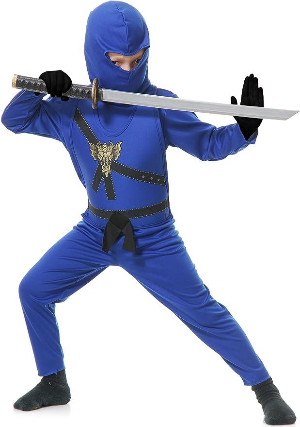Charades Childs Ninja Avenger Costume, Blue, Small