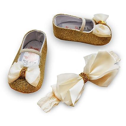 Bebé niñas recién nacidos elegante juego de moda diadema y cochecito ...
