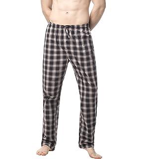 LAPASA PerfectSleep - Pijama de Algodón con Estampado Escocés para Hombre M38