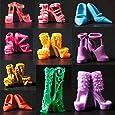 10 paare Schuhe Barbie-Schuhe Pumps Stiefel Sandale Boot für Barbie Dolls Puppen