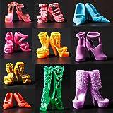 10 pares Mezclados Zapatos de Tacón alto Por 29cm Barbie Doll Clothes Accesorios