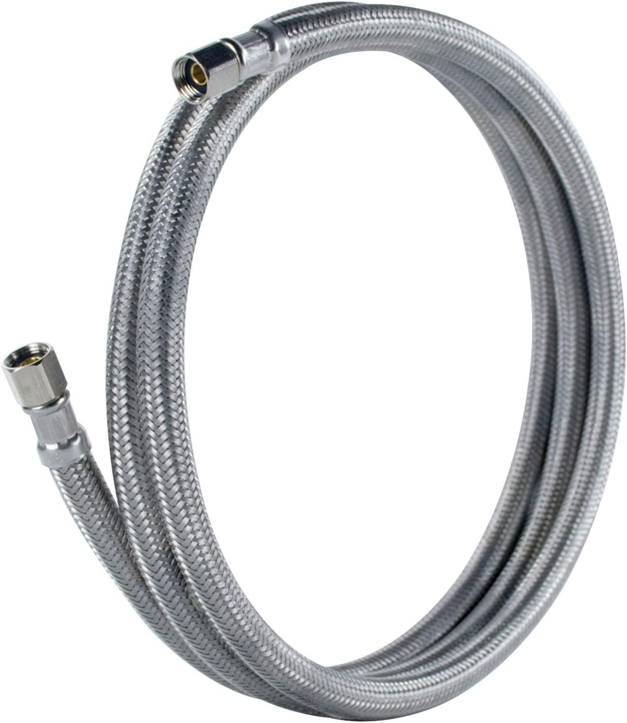 PVC Core with Premium Braided Stainless Steel 4 Feet Certified Appliance Accessories Ice Maker Water Line