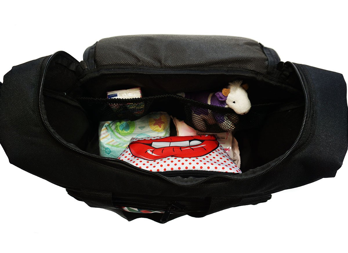 059 Baby Wickeltasche Kinderwagentasche Reisetasche Windeltasche Pflegetasche Babytasche Tragetasche Gray