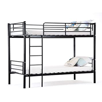 Mecor Metal Bunk Beds Frame 2x3ft Single Bed For Kids Childrens And
