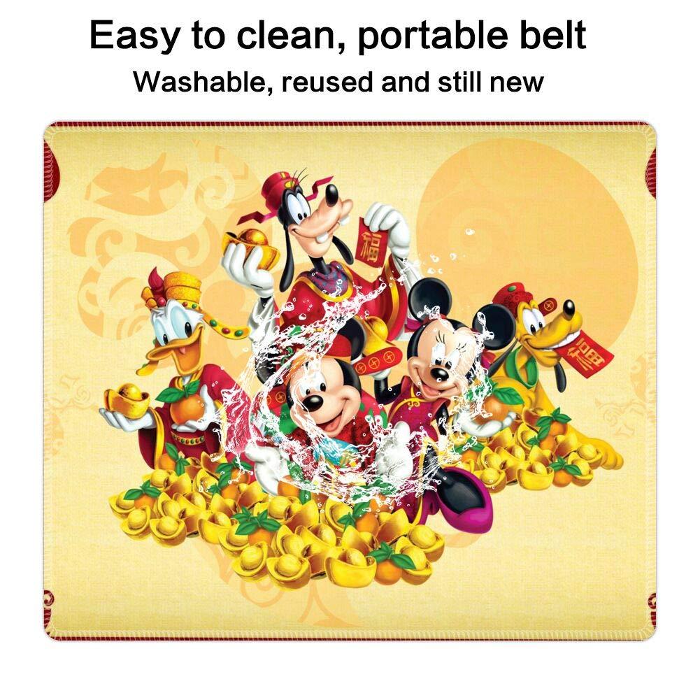 Amazon Co Jp マウスパッド 長方形 ステッチエッジ ミッキーとミニー