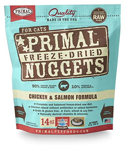 Primal Pet Foods Freeze-Dried Feline Chicken And Salmon Formula