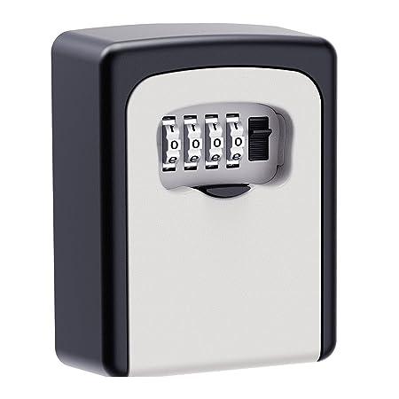 4 Digit Password Combination Key Safe Security Storage Box Lock Case Wall Mount