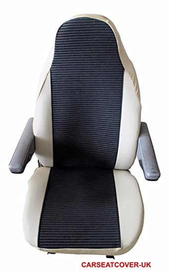 55be98fc27d MOTORHOME Seat Covers  UNIVERSAL FIT   CHOICE OF 10 FABRICS  BLACK ...
