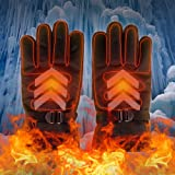Junda Electric Heated Gloves Rechargeable Battery Gloves Waterproof Super Warm for Winter Work Motorcycle Riding Outdoor Sports