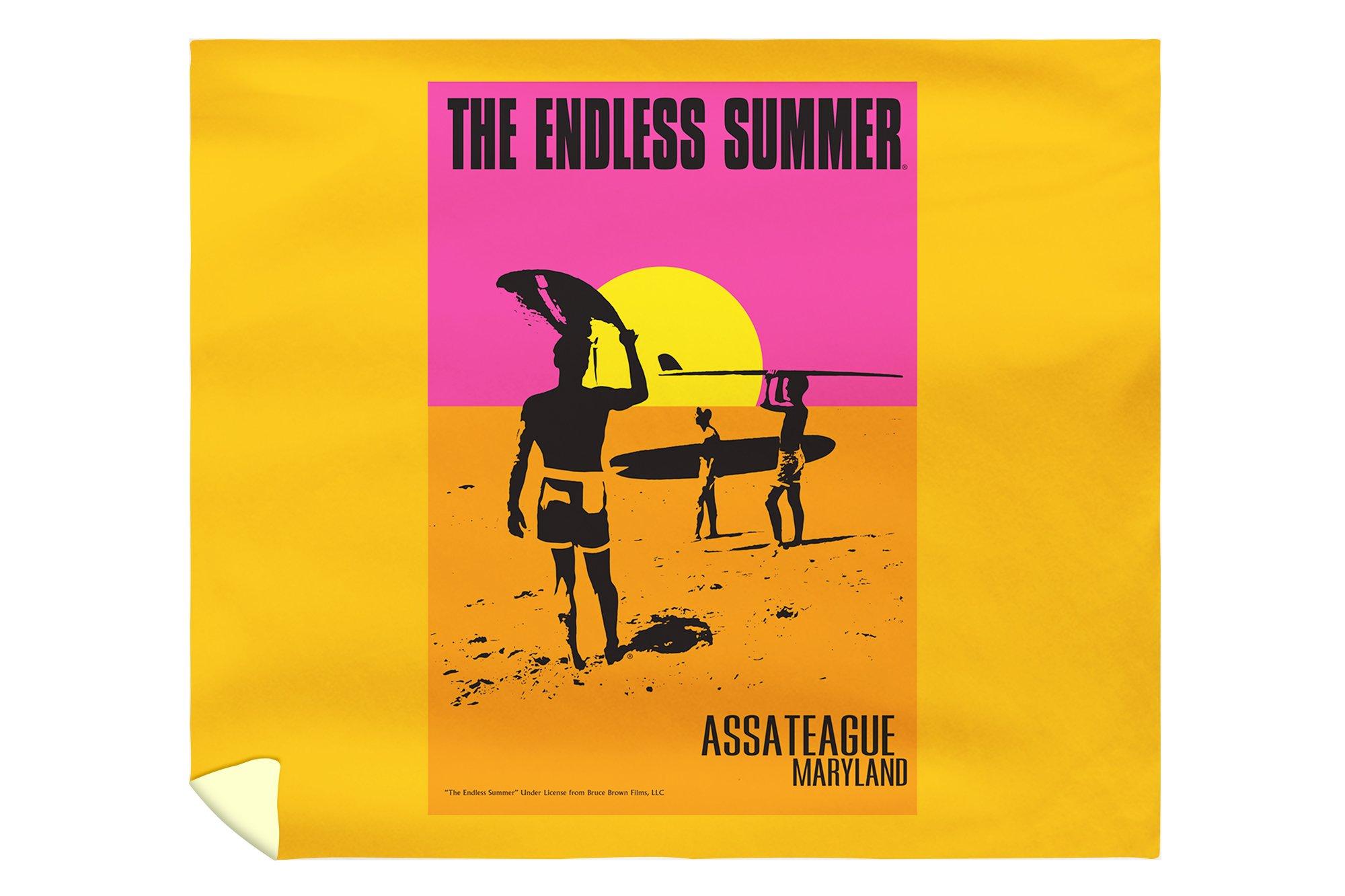 Assateague, Maryland - The Endless Summer - Original Movie Poster (88x104 King Microfiber Duvet Cover)