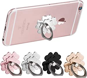 Cell Phone Ring Holder Stand Finger Rings Grip Car Mount 360° Rotation Kickstand Compatible for iPhone Xs X 11 8 7 7s 6 6s Samsung Galaxy S8 S7 S6 LG HTC Google Nexus Flower (4 Pack)
