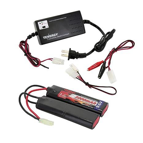 Amazon.com: Tenergy Batería Airsoft de 9,6 V, 2000 mAh, NiMH ...