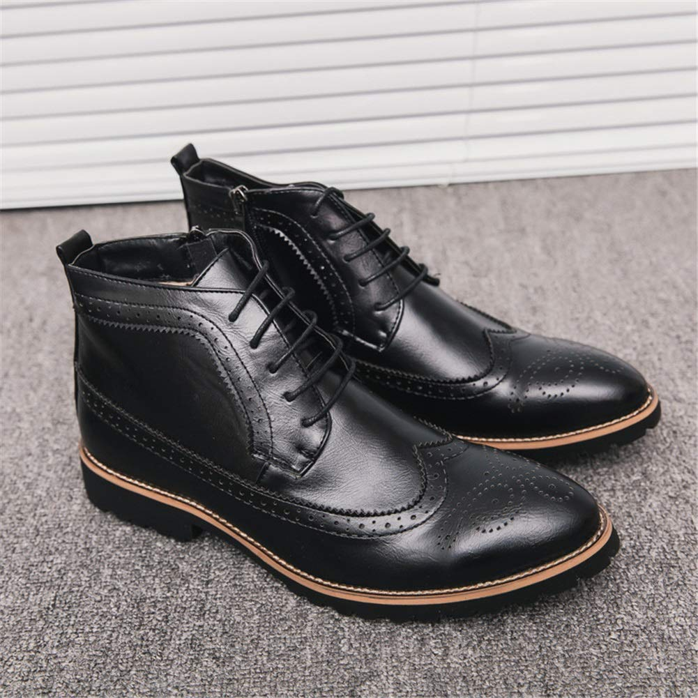 Herrenstiefel, Herbst Winter Britische High-Top-Lederstiefel wies Kurze Stiefel Stiefel Martin Stiefel Kurze Outdoor-Wanderschuh XUE (Farbe   B, Größe   44) d12c07