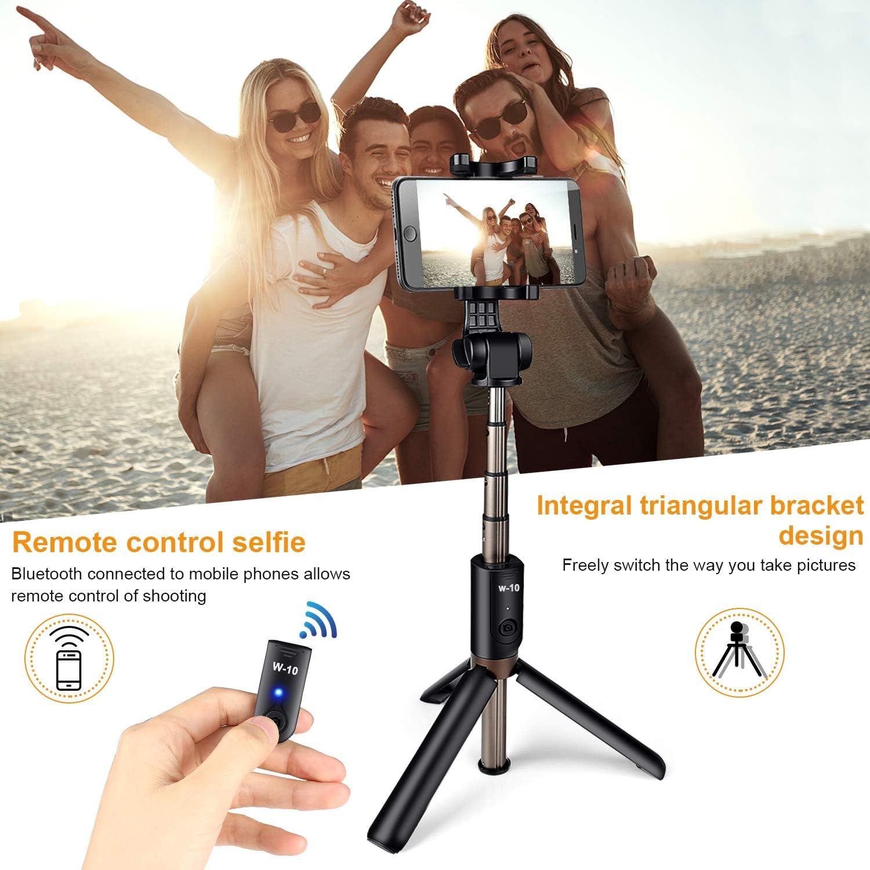 Bluetooth Selfie Stick Stativ,ONSON  3 in 1 Handy Stativ Erweiterbar Monopod 360/°Rotation mit Bluetooth-Fernausl/öse f/ür iOS Android Samsung und die meisten 3,5-6 Zoll Smartphones