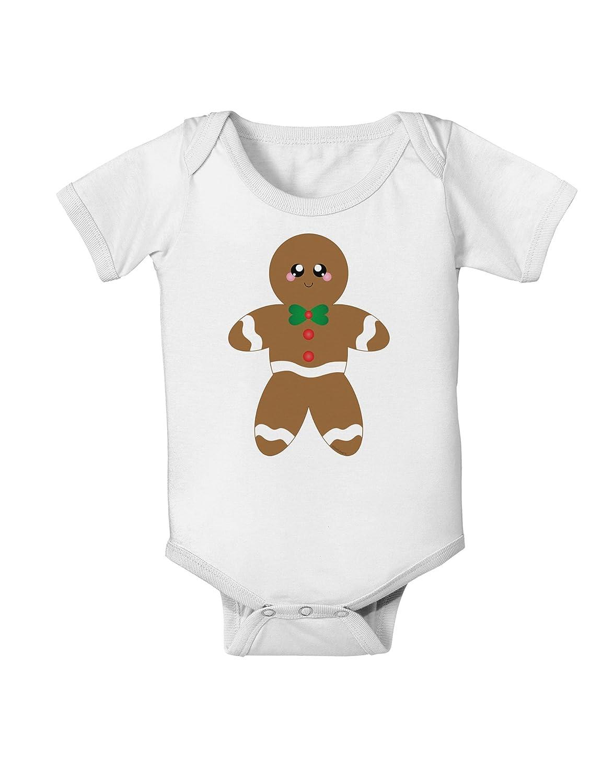 TooLoud Cute Gingerbread Man Christmas Baby Romper Bodysuit