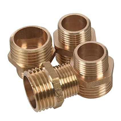 """3//8/"""" to 1//4/""""PT Male//Female Thread Hex Nipples Pipe Connector Joints 10pcs"""