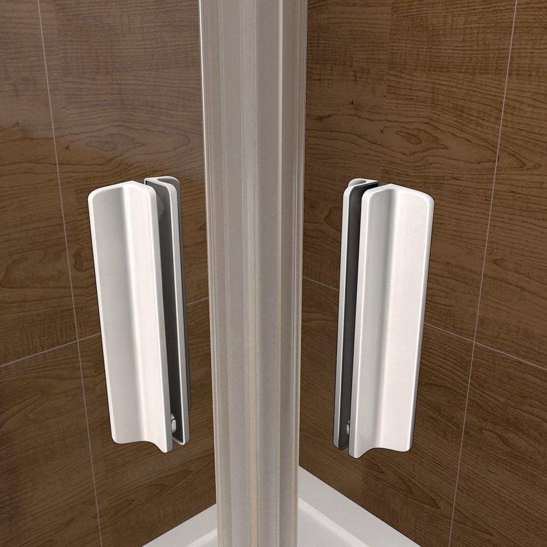 Mampara de Ducha Angular cabina de ducha mampara de ducha cuadrada Puerta Corredera Cristal 5 MM perfilería gris mate 100x80cm: Amazon.es: Bricolaje y herramientas