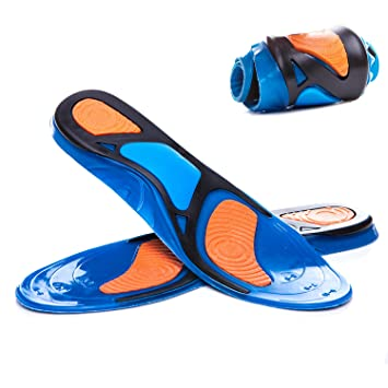 new product 99f68 98211 Gel Sports Insoles For Men  Women,Shock Absorption, Heel  Protection,Relieve Foot